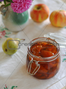 Pear and Apple Preserve