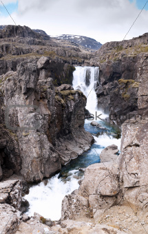 Small waterfall near Djupivogur, Iceland