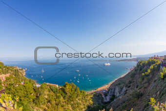 Sicilian seascape from Taormina