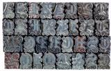 decorative metal letterpress type