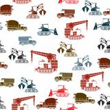 Construction vehicles pattern