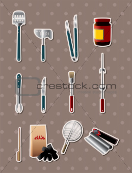 bbq tools stickers