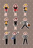 cartoon office workers,businessman stickers
