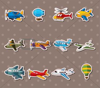 cartoon airplane stickers