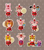 animal xmas stickers