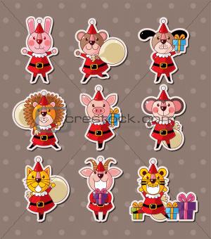 animal xmas stickers