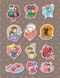 cartoon Valentine's Day stickers