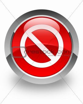 Access denied glossy icon