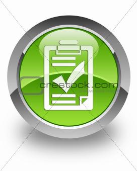 Checklist glossy icon