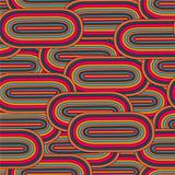 seamless  big oval pattern  in a retro style