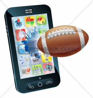 American football ball cell phone