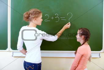By the blackboard