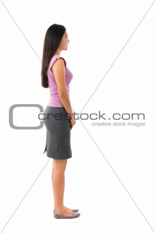 Side view full body Asian female