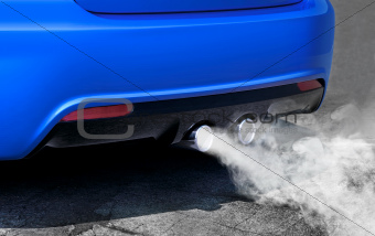pollution of environment from powerful sport car