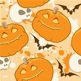 yellow Halloween pattern