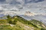 View from Monte Rite, Dolomites, Alps, Italy
