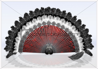 Decorative folding Fan