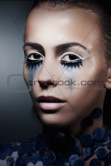 Fancy dress party (halloween) - theatrical female face