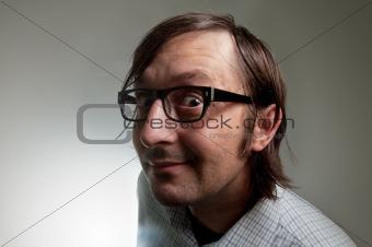 Big head nerd