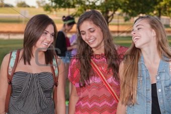 Three Happy Female Students