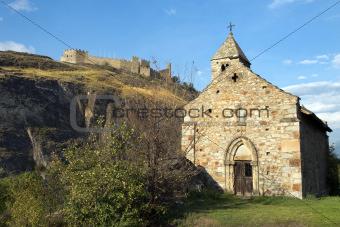 Castle Tourbillon and chapel , Sion, Switzerland
