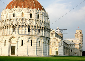 Piazza dei Miracoli - Miracles square in Pisa Italy