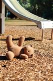Teddy bear on the ground