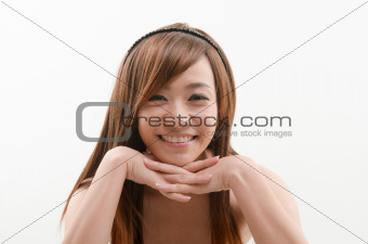Asian female smiling