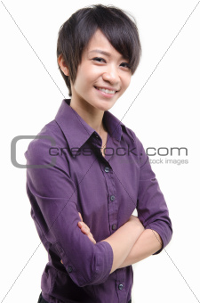 casual asian busines woman
