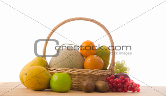 group on fruits on basket
