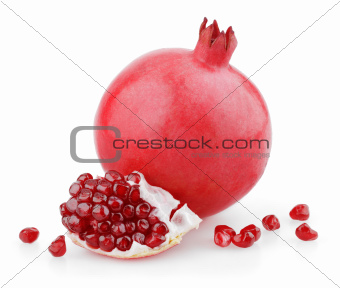 Sweet pomegranate fruit with seeds