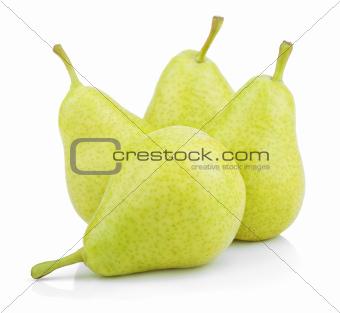 Green yellow pears