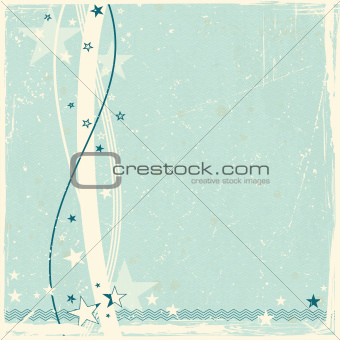 Star border on abstract distressed background