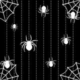 Spiders and web seamless background