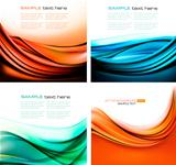 Set of colorful elegant abstract backgrounds  Vector illustration