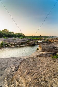 Sampanbok in Mekong River, Ubon Ratchathani, Thailand