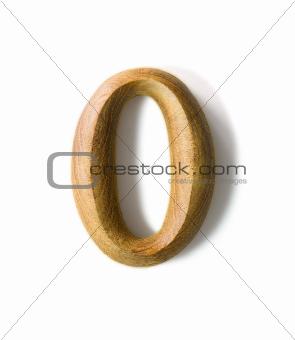 Wooden numeric 0