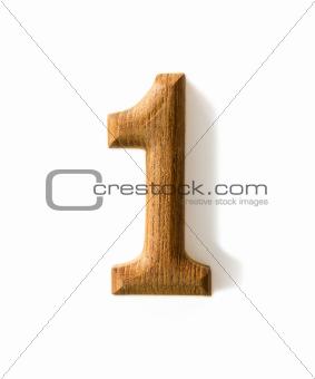 Wooden numeric 1