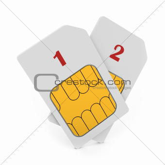 Double phone SIM cards