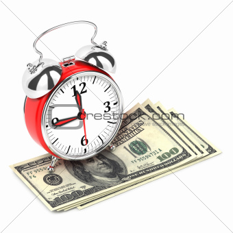 Alarm Clock standing on Money