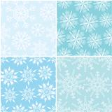 Four winter seamless backgrounds