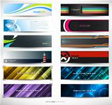 Vector abstract banners for web header