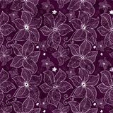 Seamless violet lace pattern