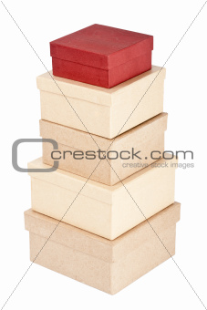 Cardboard box tower