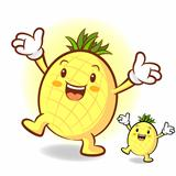 Happy Pineapple Character
