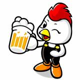 Drinking Beer Chicken Character