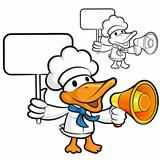 Loudspeaker to promote the  duck chef