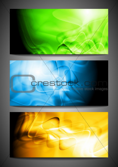 Wave banners. Vector