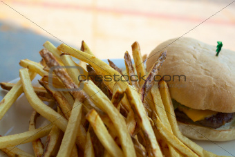 French Fries before a Cheeseburger