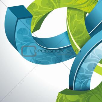 Abstract 3d technology circles vector backgound. Eps 10.